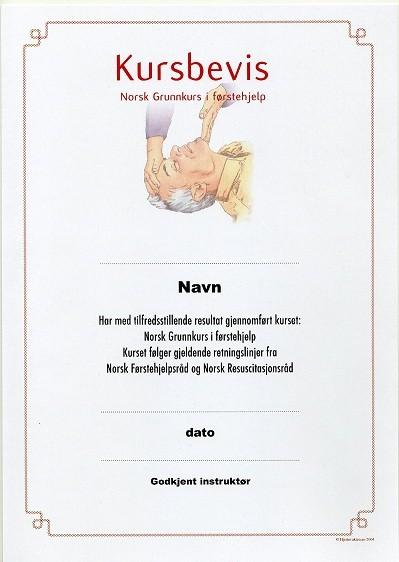 Hlr Kursbevis Diplom Hjertevakten